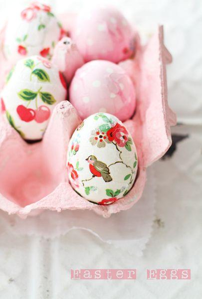 como usar cascas de ovos na decoração  / Foto: ameblo.jp