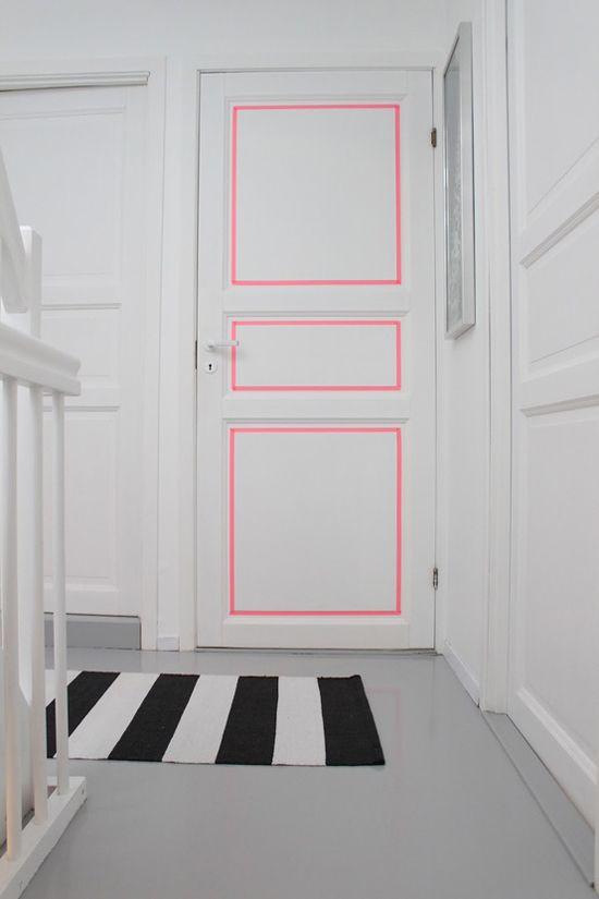 como customizar uma porta - Foto: athomeinlove