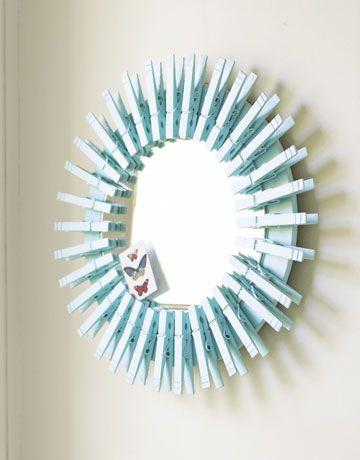 decoração com prendedor de roupa  / Foto: countryliving.com