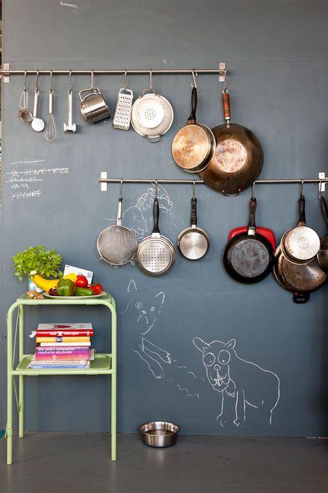 desenhos de giz na decoração / Foto: designspongeonline.com