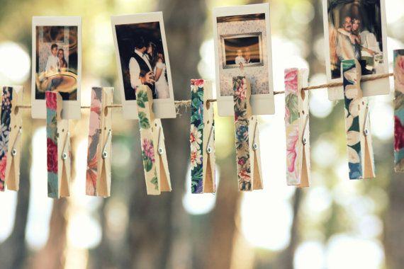 decoração com prendedor de roupa  / Foto: etsy