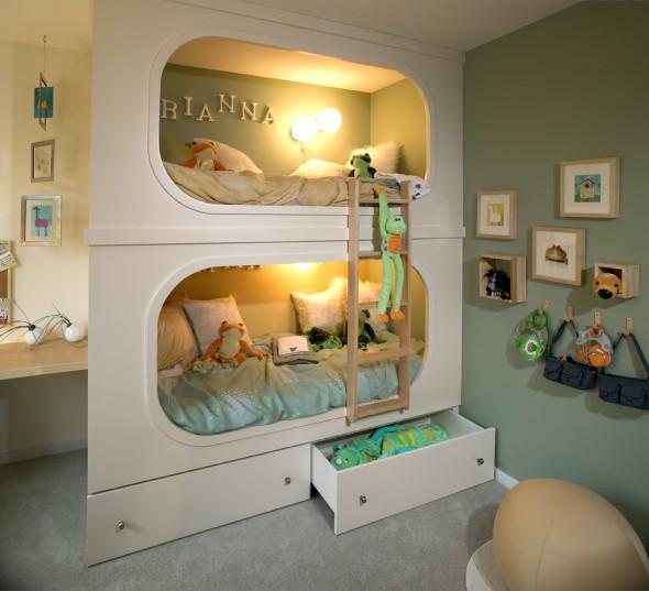 camas para quartos de criança / Foto: kawaiitwinkle.blogspot.