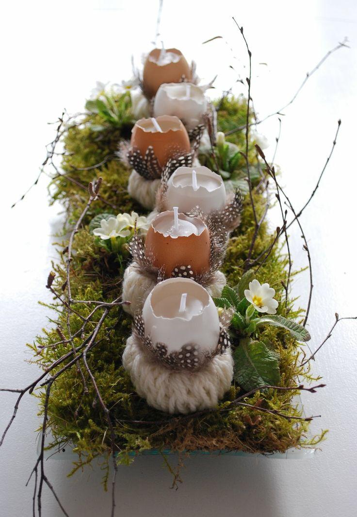 como usar cascas de ovos na decoração  / Foto: mamaskram.blogspot.de